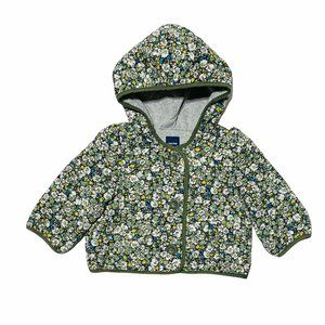 Baby Gap Floral Print Quilted Hooded Padded Jacket